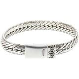Biba metalen armband met brede platte schakel 19,5 cm