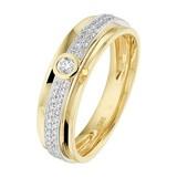 Diamant Centrum Rotterdam Huis collectie   Ring diamant 0.22ct H SI