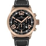 Marc Coblen Marc Coblen MC45R2 - Horloge - 45 mm - Zwarte wijzerplaat - Zwarte horlogeband