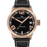 Marc Coblen Marc Coblen MC50R1- Horloge - 50 mm - Zwarte wijzerplaat - Zwarte horlogeband