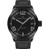 Marc Coblen Marc Coblen MC50B1- Horloge - 50 mm - Zwarte wijzerplaat - Zwarte horlogeband