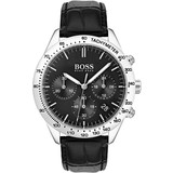 Hugo Boss  Hugo Boss HB1513579 Talent Horloge - Leer - Zwart - Ø 42 mm