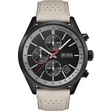 Hugo Boss  Hugo Boss HB1513562 horloge heren - beige - edelstaal PVD zwart