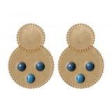 biba Biba oorbellen goud / blauw  81194