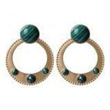 biba Biba oorbellen goud/groen   81189