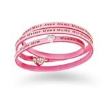Amen Mama armband roze leer