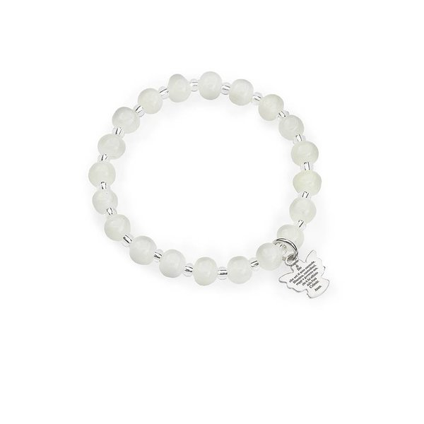 murano engel armband wit