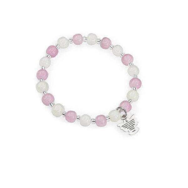 murano engel armband roze & wit