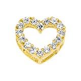 Diamant Centrum Rotterdam Huis collectie   Geelgouden hanger hart met zirkonia