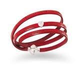 Amen Amen mama bracelet leather red
