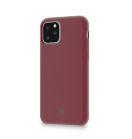 Celly Celly LEAF Bordeaux Rood - iPhone 11