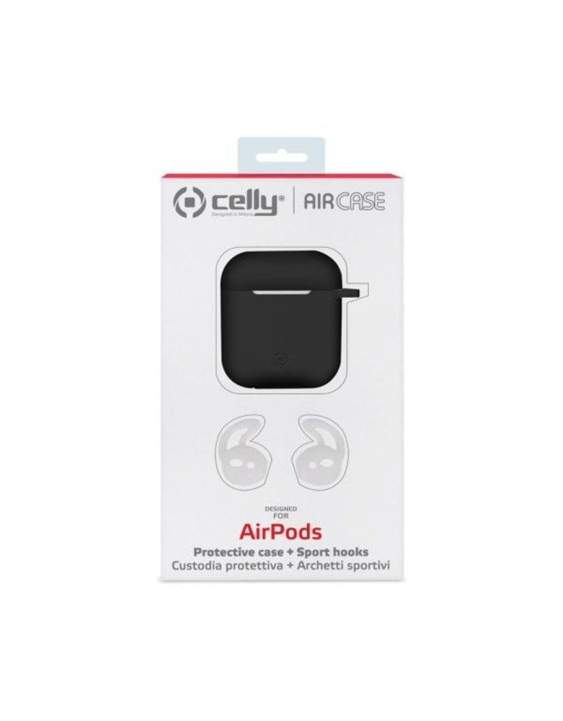 Celly Celly Black Sillicone Aircase - Airpods