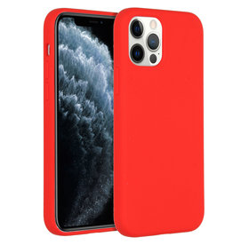 Accezz Accezz Liquid Silicone Case iPhone 12 (pro) rood