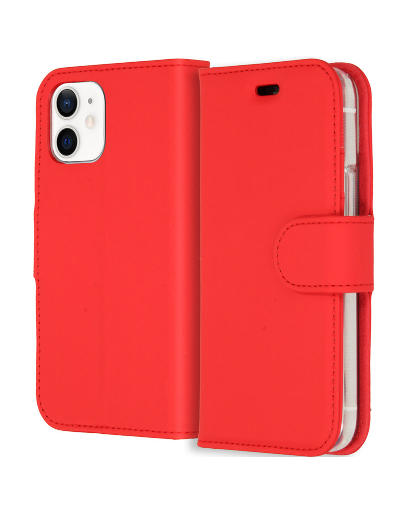 Accezz Accezz Wallet Sofcase Booktype Rood iPhone 12 Mini