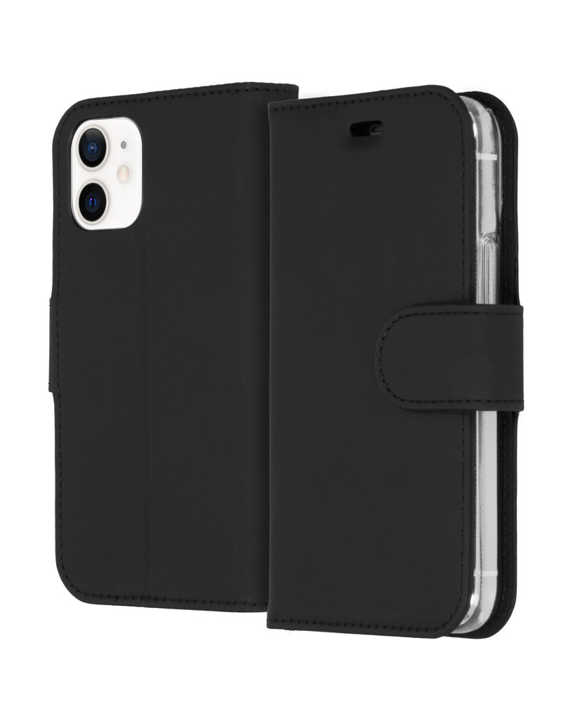 Accezz Accezz Wallet Sofcase Booktype Zwart iPhone 12 Mini