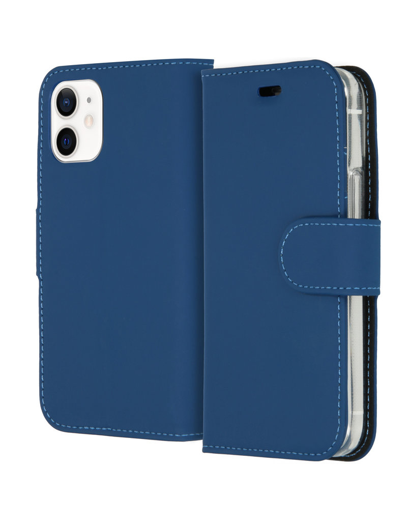 Accezz Accezz Wallet Sofcase Booktype Blauw iPhone 12 Mini