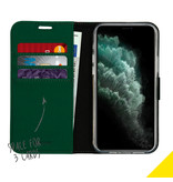 Accezz Accezz Wallet Softcase Booktype Groen iPhone 12 (Pro)
