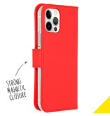 Accezz Accezz Wallet Softcase Booktype Rood iPhone 12 (Pro)