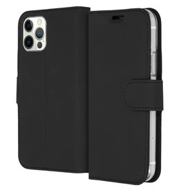 Accezz Accezz Wallet Softcase Booktype Zwart iPhone 12 (Pro)