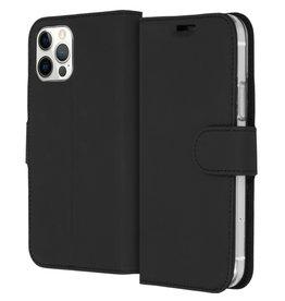Accezz Accezz Wallet Softcase Booktype Zwart iPhone 12 (Pro)