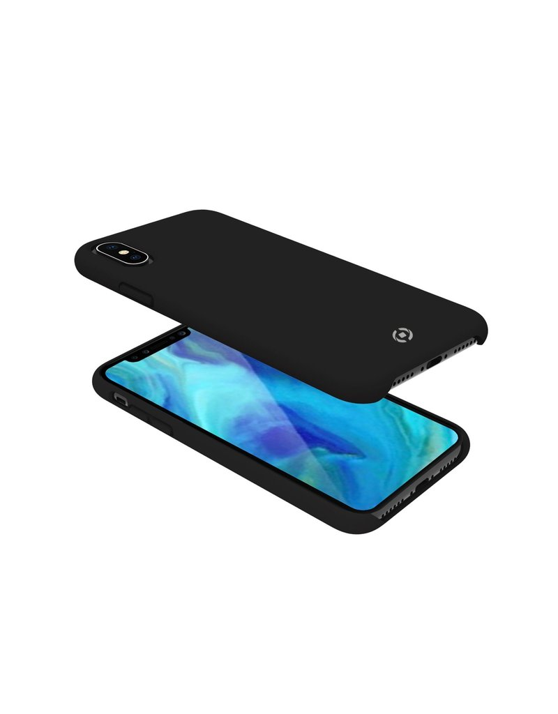 Celly Celly Feeling Silicone Back Cover Zwart iPhone Xs Max
