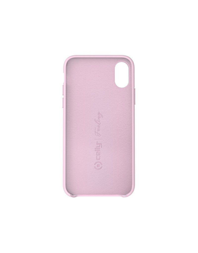 Celly Celly Feeling Silicone Back Case Rose iPhone Xs Max