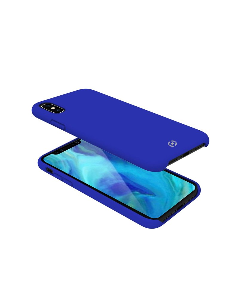 Celly Celly Feeling Silicone Back Case Blauw iPhone Xs Max