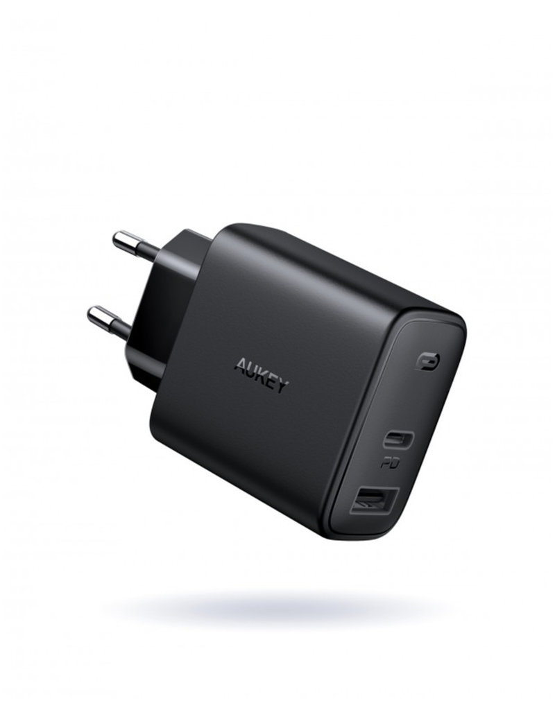 Aukey Aukey Wall Charger USB USB-C snellader 18W