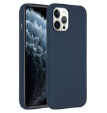 Accezz Accezz Liquid Silicone Case iPhone 12 Pro Max donkerblauw