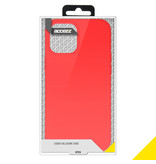 Accezz Accezz Liquid Silicone Case iPhone 12 Pro Max rood