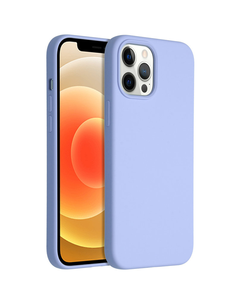 Accezz Accezz Liquid Silicone Case iPhone 12 Pro Max Paars