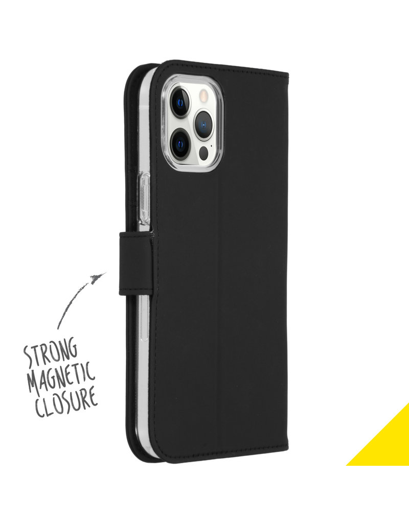 Accezz Accezz Wallet Softcase Booktype Zwart iPhone 12 Pro Max