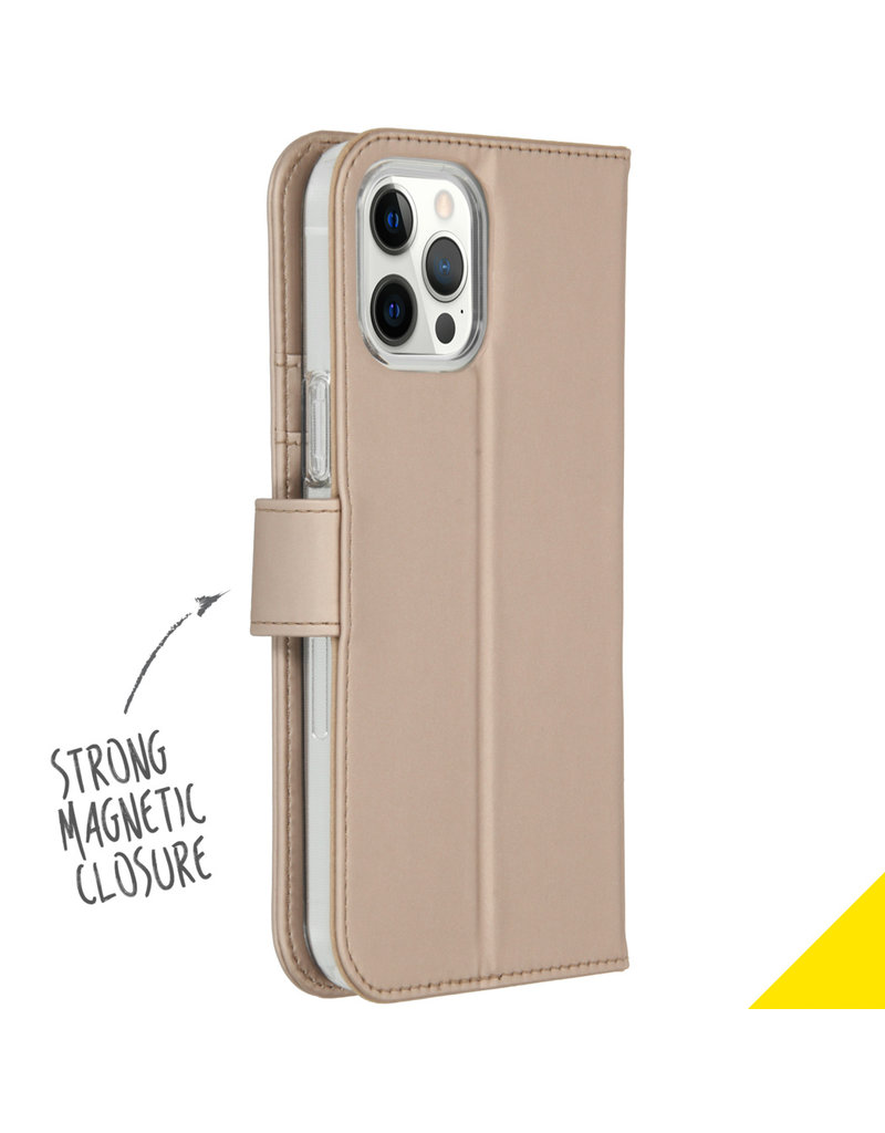 Accezz Accezz Wallet Softcase Booktype Goud iPhone 12 Pro Max