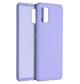 Accezz Accezz Liquid Silicone Case Samsung Galaxy A51 paars