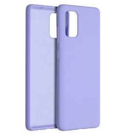 Accezz Accezz Liquid Silicone Case Samsung Galaxy A71 Paars