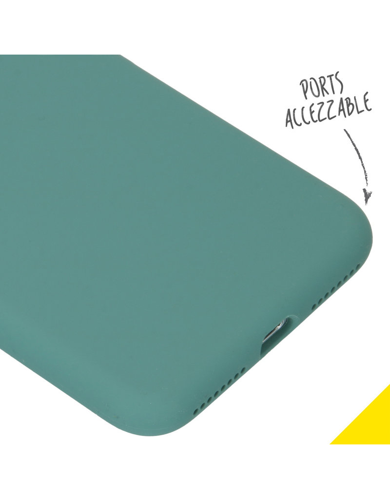 Accezz Accezz Liquid Silicone Case iPhone 8/7 Plus Donker groen