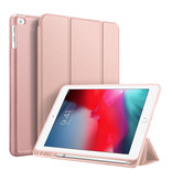 Accezz Accezz Smart Silicone Bookcase voor de iPad (2018) / (2017) / Air (2) Rosé Goud