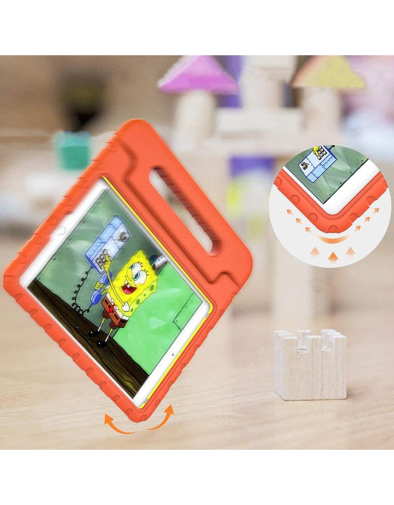 iMoshion iMoshion Kidsproof Backcover met Handvat iPad 10.2'' 2019 / 2020 Oranje