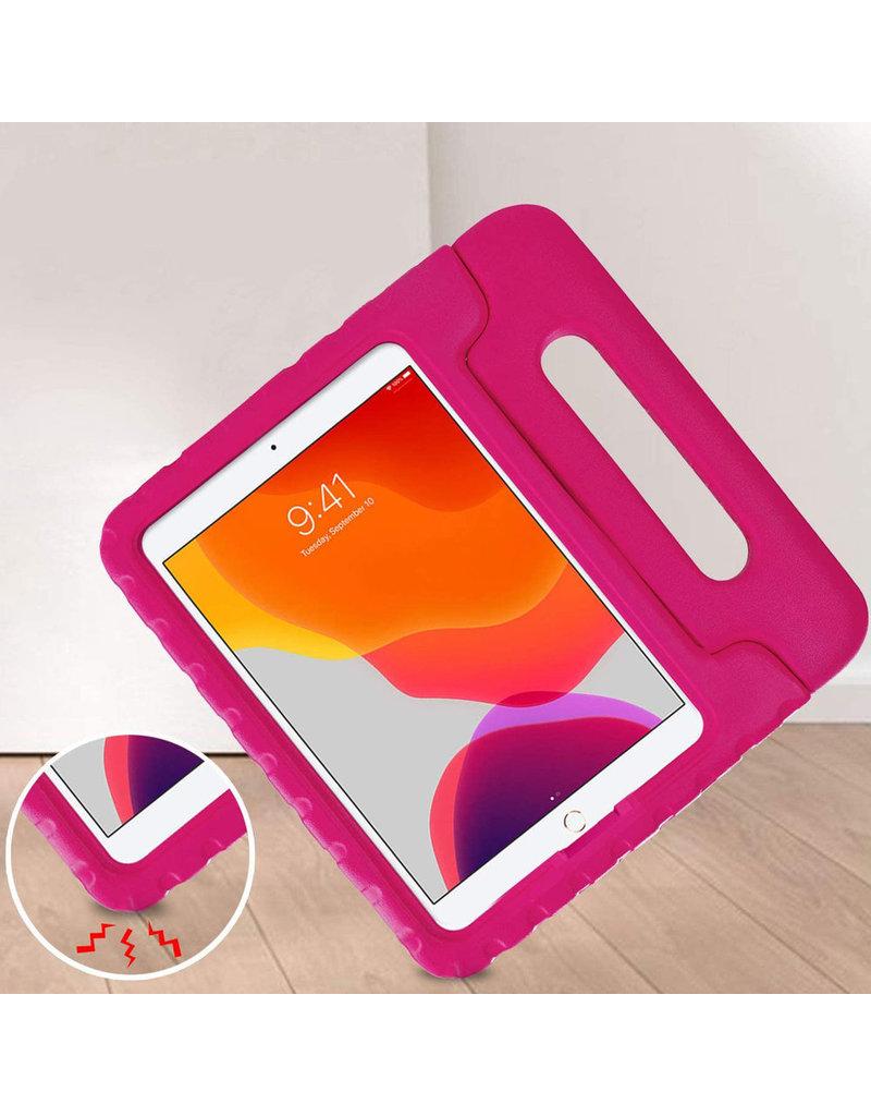 iMoshion iMoshion Kidsproof Backcover met Handvat iPad 10.2'' 2019 / 2020 Rose