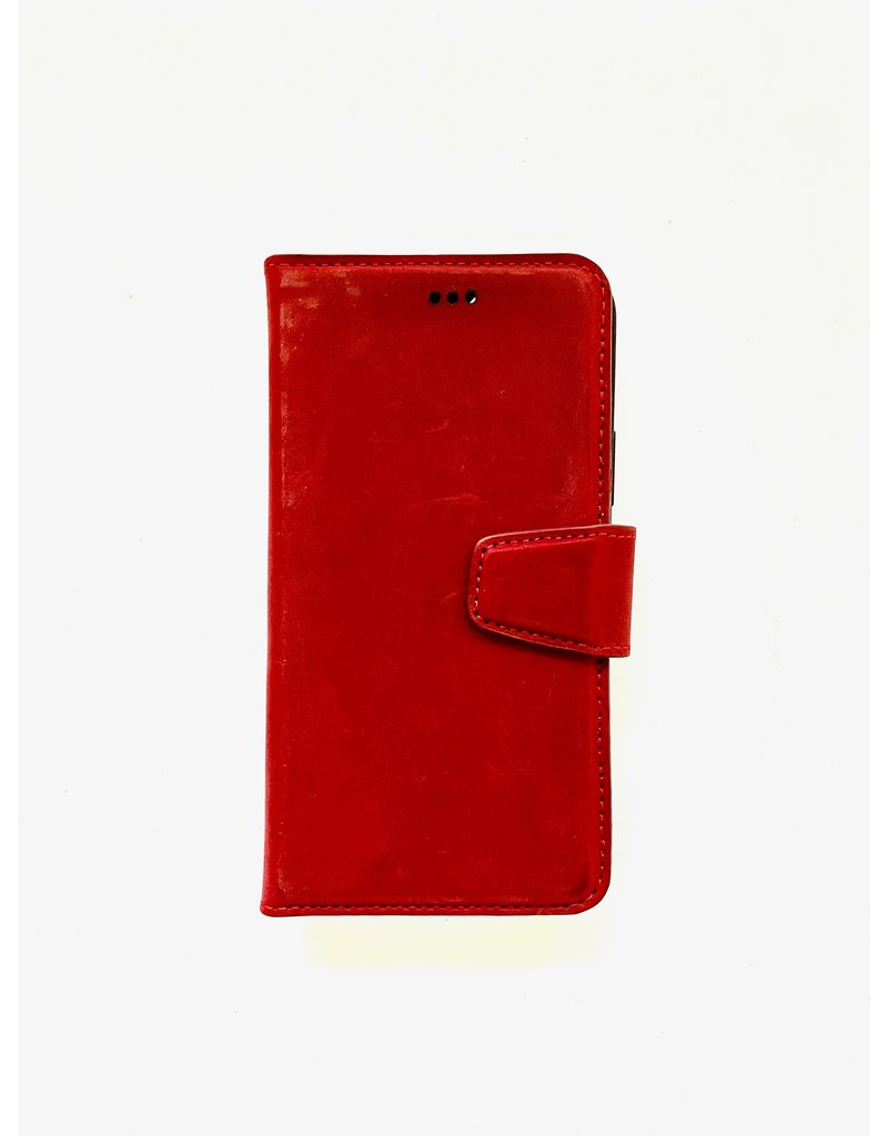 P2C Lederen 2 in 1 Book Case rood 12 / 12 Pro