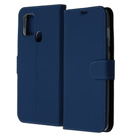 Accezz Accezz Wallet Softcase Booktype Blauw Samsung Galaxy A21s