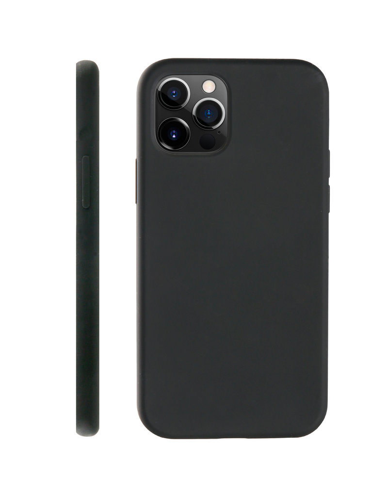 BeHello BeHello Liquid Silicone Case Zwart iPhone 12 / 12 Pro