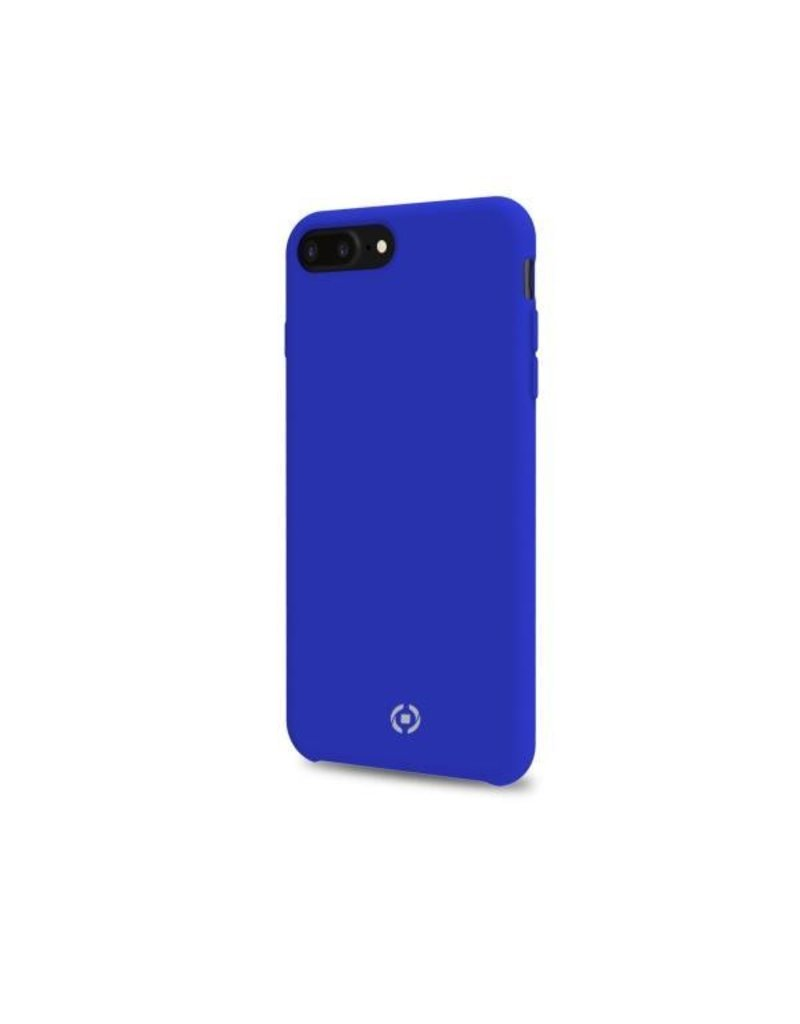 Celly Celly Feeling Silicone Back Case Blauw iPhone 7 / 8 Plus