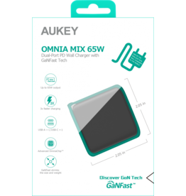 Aukey Aukey 2-Port PD Charger 65W USB A + USB C