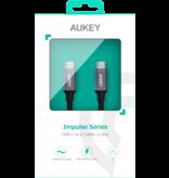 Aukey Aukey Cable USB-C to USB-C 1.0m