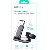 Aukey Aukey 3 in 1 Wireless Charging Station Black