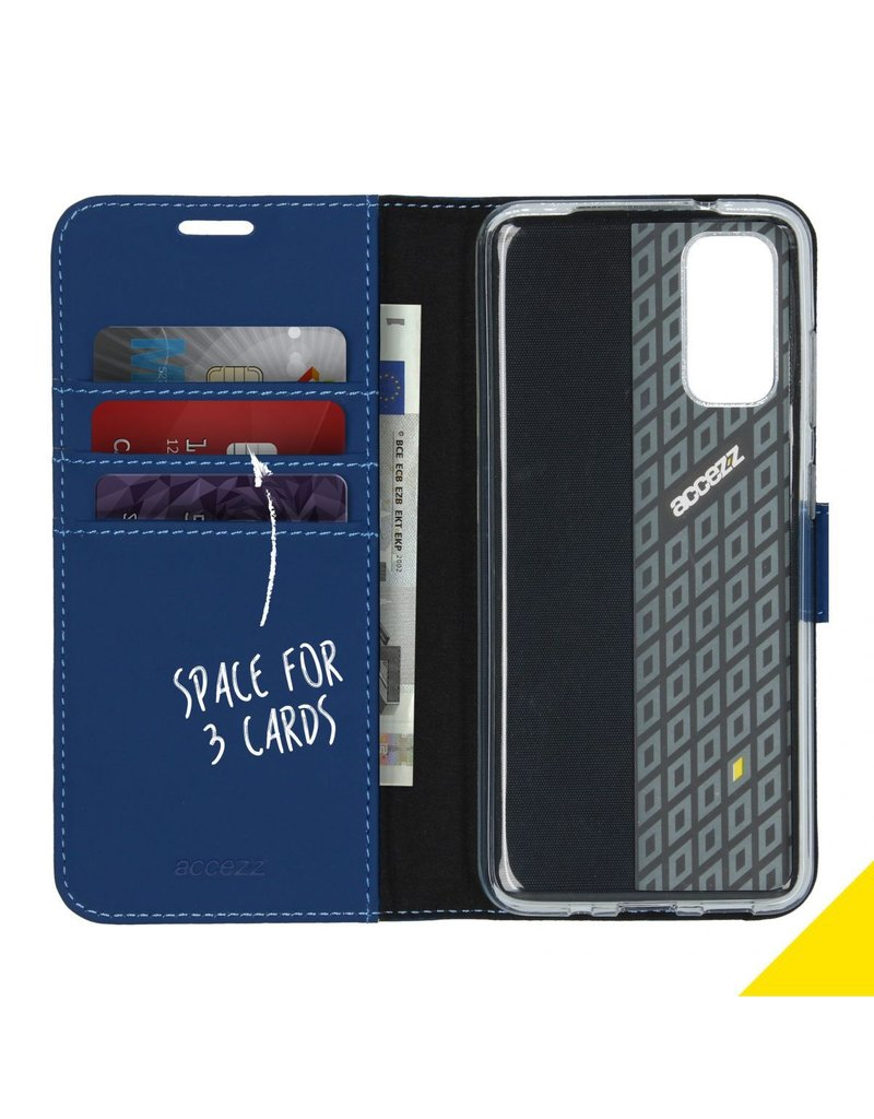 Accezz Accezz Wallet Softcase Booktype Blauw Samsung Galaxy S20