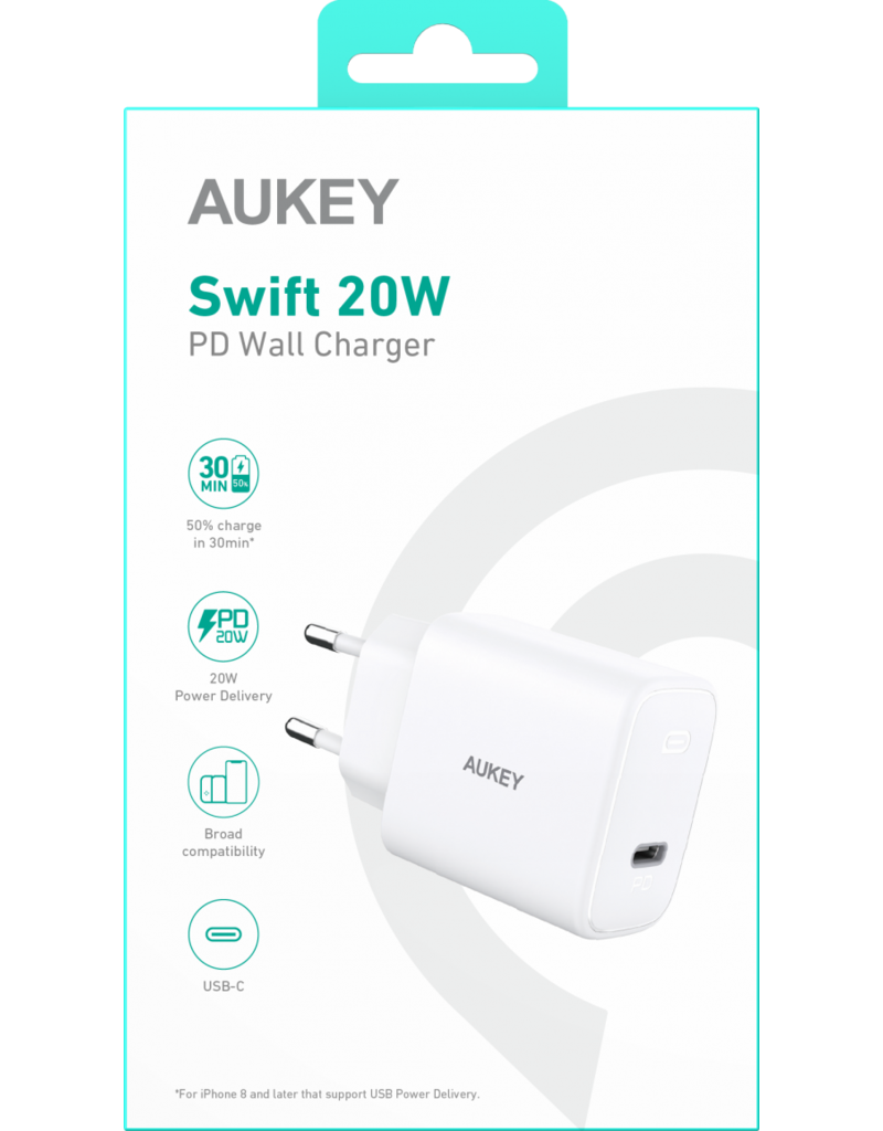 Aukey Aukey Wall Charger 20W wit