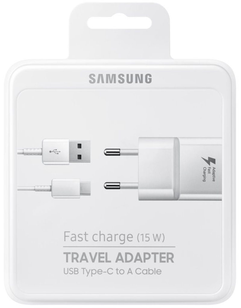 Samsung Samsung Fast Charger Travel Adapter USB Type-C to A Cable 15W - Wit