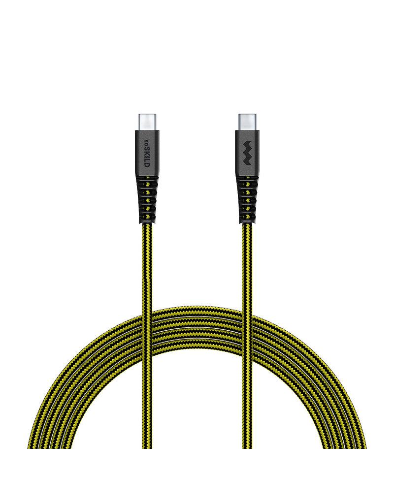 SoSkild SoSkild iPhone USB-C - USB-C Oplaadkabel 1.5m  - Zwart / Geel